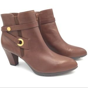 NEW Ann Klein Chelsey Brown Booties